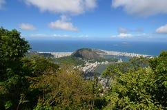 Lagoa, Rio de Janeiro, Botafogo Beach, sky, nature, coast, vegetation. Lagoa, Rio de Janeiro, Botafogo Beach is sky, vegetation and nature reserve. That marvel royalty free stock images
