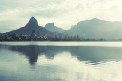 Lagoa Rio de Janeiro Brazil Scenic Skyline Royalty Free Stock Photography