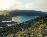 Lagoa robi Fogo, Azores - Obrazy Royalty Free