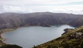Lagoa robi Fogo jezioru, lagunie ogie?/, Azores zdjęcia royalty free