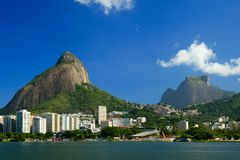 Lagoa Rodrigo de Freitas. A view of the Lagoa Rodrigo de Freitas in Rio de Janeiro with the Pedra da Gavea in the background on a beautiful sunny day Stock Images