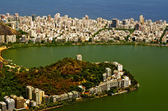 Lagoa Rodrigo de Freitas, district Ipanema. Rio de Royalty Free Stock Image