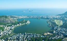 Lagoa Rodrigo de Freitas, Ipanema, Leblon στο Ρίο ντε Τζανέιρο στοκ εικόνες