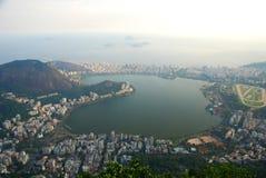 Lagoa Rodrigo de Freitas, Ipanema and Leblon seen from Corcovado. Rio de Janeiro, Brazil Stock Photography