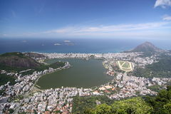 Lagoa Rodrigo de Freitas in Rio de Janeiro Royalty Free Stock Photo