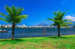Lagoa Rodrigo DE Freitas in Rio de Janeiro royalty-vrije stock afbeelding