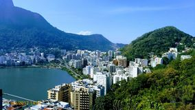 Lagoa Rodrigo de Freitas - Rio de Janeiro. View of Lagoa Rodrigo de Freitas and the districts of Humaitá and Lagoa in the city of Rio de Janeiro Royalty Free Stock Photos