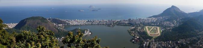 Lagoa Rodrigo Freitas em Rio de Janeiro Imagem de Stock