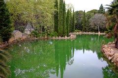 Lagoa romântica Foto de Stock Royalty Free