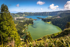 Lagoa Sete Cidades on Azores island.  royalty free stock image