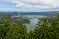Lagoa Sete Cidades on Azores Royalty Free Stock Photos