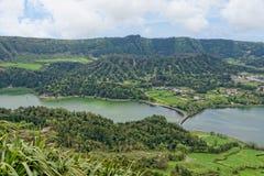 Lagoa Sete Cidades on Azores Stock Images