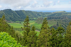 Lagoa Sete Cidades on Azores Stock Photography