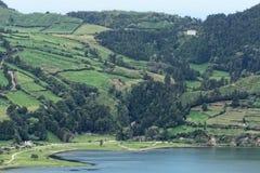 Lagoa Sete Cidades on Azores Stock Photo