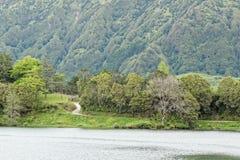 Lagoa Sete Cidades on Azores Royalty Free Stock Photos