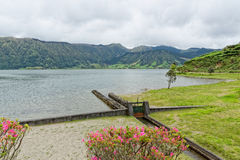 Lagoa Sete Cidades on Azores Stock Images