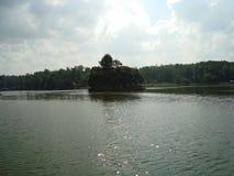 Lagoa superior no parque de Tsaritsyno Fotografia de Stock