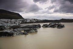 Lagoa SvÃnafellsjokull da geleira Foto de Stock Royalty Free