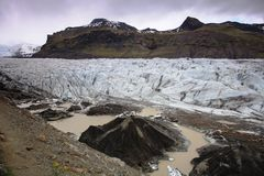 Lagoa SvÃnafellsjokull da geleira Fotos de Stock Royalty Free