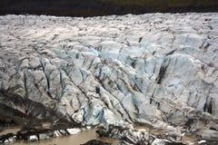 Lagoa SvÃnafellsjokull da geleira Fotografia de Stock Royalty Free