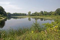 Lagoa tranquilo em Canadá oriental Fotos de Stock