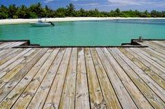 A lagoa tropical Foto de Stock Royalty Free