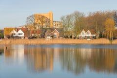 Lagoa Tuindorpbad no centro de Hengelo imagem de stock