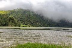 Lagoa Verde. Near Sete Cidades, Portugal stock photography