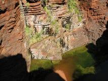 Lagoa verde no parque nacional de Karijini Imagem de Stock Royalty Free