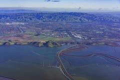 Lagoas coloridas especiais de sal de Newark imagens de stock royalty free