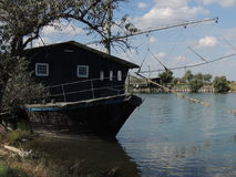 Lagoas de Comacchio imagens de stock