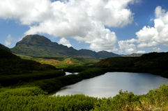 Lagoas de peixes de Menehune Fotografia de Stock