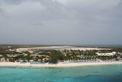 Lagoas de sal no turco & em Caicos grandes Imagem de Stock Royalty Free