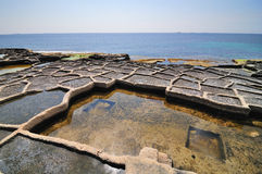 Lagoas de sal velho foto de stock