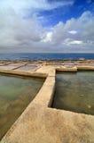 Lagoas de sal velho imagens de stock
