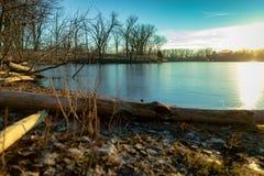 Lagoas de Skokie, Glencoe fotos de stock royalty free