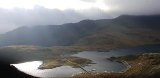 Lagoas do mt Snowdon foto de stock royalty free