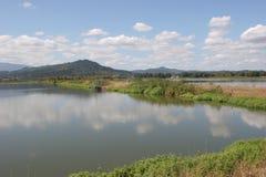 Lagoas do tratamento de água de esgoto Fotos de Stock Royalty Free