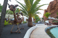 LagOmar House Museum in Lanzarote, in Spain Royalty Free Stock Photos