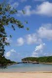 Lagon de la Porte d Enfer in Guadeloupe Stock Photos
