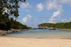 Lagon de la Porte d Enfer in Guadeloupe Royalty Free Stock Photo