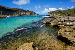 Lagon de la Porte d'Enfer in Guadeloupe Royalty Free Stock Image