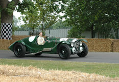 Lagonda V12 vintage racing car. Lagonda V12 vintage  Single-Seater classic vintage racing car Stock Photography