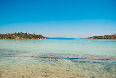 Lagonisi beach on Sithonia peninsula, Halkidiki, Greece Royalty Free Stock Photo