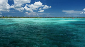 Lagoon. Tropical islands and blue lagoons (Dominican republic Stock Images