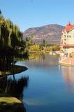 Waterfront Park Man-Made Lagoon royalty free stock images