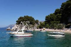 Lagoon at the Adriatic coast Stock Photo