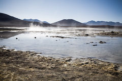 Lagoon at the Altiplano, Bolivia Stock Photography