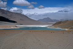 Lagoon on Altiplano in Bolivia,Bolivia. Lagoon on Altiplano at Eduardo Avaroa National Reserve,Bolivia Royalty Free Stock Photos