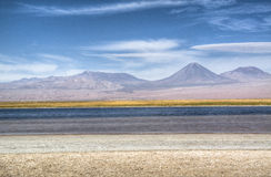Lagoon in the Atacama desert Stock Photos